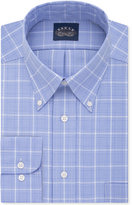 Eagle Men's Classic/Regular Fit Non-Iron Flex Collar Purple Check Dress Shirt