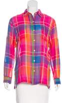 Lauren Ralph Lauren Plaid Button-Up Top