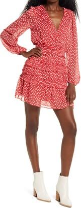 Socialite Long Sleeve Floral Print Minidress