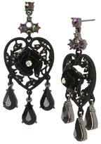 Betsey Johnson Darkness Chandelier Earrings