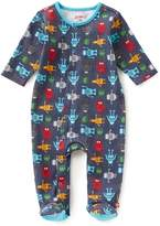 Zutano Baby Boys Newborn-6 Months Robot-Print Footed Coverall
