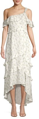 Rachel Zoe Jillian Ruffle Floral High-Low Dress