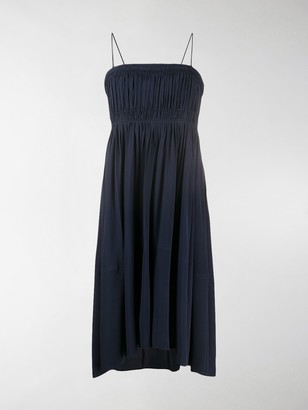 Chloé Smocked Asymmetric Dress