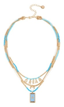 BCBGeneration Dream Layered Convertible Gold-tone Metal Necklace Set
