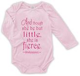 Urban Smalls Pink 'Little but She Is Fierce Long-Sleeve' Bodysuit - Infant