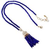 Amrita Singh Ankara Crystal Tassel Pendant Necklace