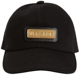 Versace Cotton Baseball Hat W/ Metal Logo