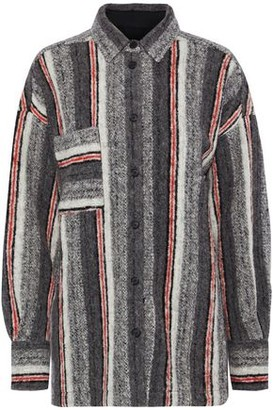 IRO Ramset Striped Brushed Wool-blend Shirt