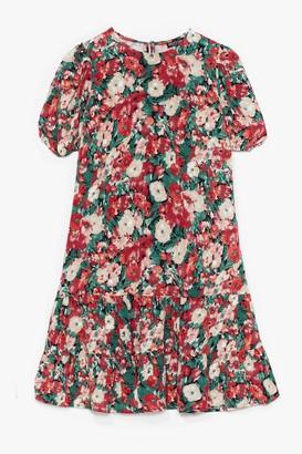 Nasty Gal Womens Grow Me Love Floral Mini Dress - Pink - 4, Pink