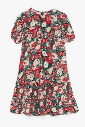Nasty Gal Womens Grow Me Love Floral Mini Dress - Pink - 4