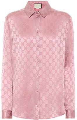 Gucci GG silk-jacquard shirt