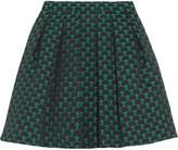 Mary Katrantzou Algernon pleated jacquard mini skirt
