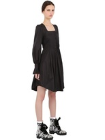 Alexander McQueen Heavy Cotton Poplin Shirt Dress