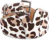 Alaia Ponyhair Leopard Waist Belt