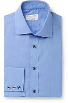 Kingsman + Turnbull & Asser Blue Puppytooth Cotton Shirt