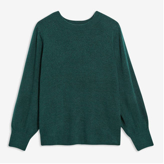 Joe Fresh Women+ Full Sleeve Sweater, Green (Size 1X)
