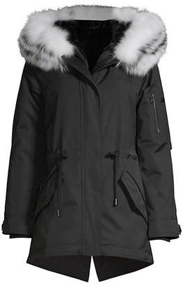 Derek Lam Nylon Fox Fur-Trim Parka