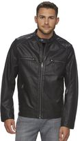 Marc Anthony Men's Slim-Fit Faux-Leather Perforated Bomber Jacket
