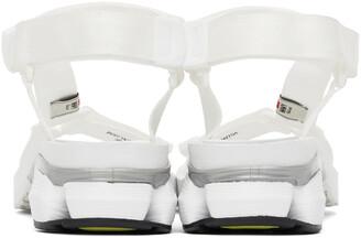 Miharayasuhiro White Sneaker Heel Belted Sandals