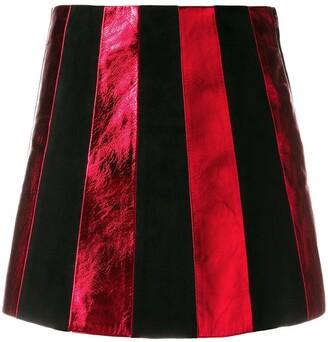 Miu Miu Striped Mini Skirt