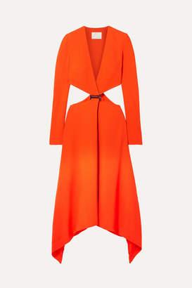 Dion Lee Embellished Cutout Cady Maxi Dress - Bright orange