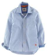 Boden Boys' Laundered Nautical Blue Shirt.