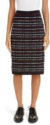 Thom Browne Tweed Yarn Jacquard Pencil Skirt
