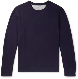 Brunello Cucinelli Loopback Cotton-Blend Jersey Sweatshirt
