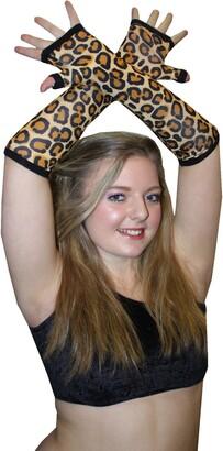 Insanity Original Leopard Print Long Gloves