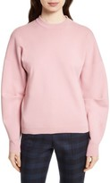 Tibi Women's Sculpted Zip Back Pullover