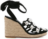 Alexander Wang Taylor wedge sandals - women - Leather/Suede - 36