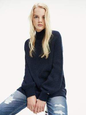 Tommy Hilfiger Turtle Neck Balloon Sleeve Jumper