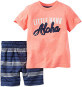 Carter's 2-pc. Orange Hunk Tee and Shorts Set - Baby Boys newborn-24m
