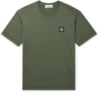 Stone Island Logo-Appliqued Cotton-Jersey T-Shirt