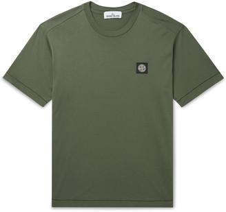 Stone Island Logo-Appliqued Cotton-Jersey T-Shirt - Men - Green