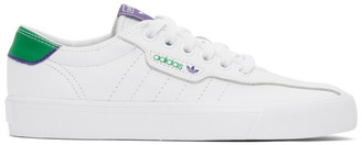 adidas White and Green Love Set Super Sneakers