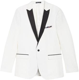 Paisley & Gray White One Button Peak Lapel Slim Fit Tuxedo Jacket