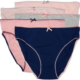 S.O.H.O New York Womens Five Pack High Leg Briefs Pink