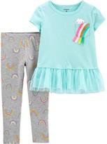 Carter's Toddler Girl Rainbow Peplum Top & Legging Set