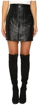 Just Cavalli Leather Mini Skirt w/ Metallic Finish