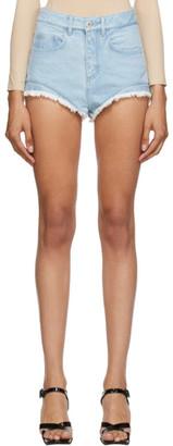 Marques Almeida SSENSE Exclusive Blue Denim Frayed Shorts