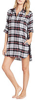 DKNY Plaid Flannel Boyfriend Sleepshirt