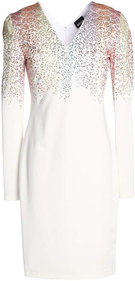 Just Cavalli Crystal-embellished Stretch-jersey Dress