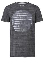 Jeanswest Nathaniel Short Sleeve Print Crew Tee-Black Multi-L