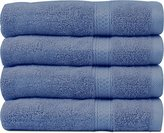 Ringspun Cotton Large Hand Towels (Blue, 4-Pack,16 x 28 inches) - Multipurpose Use for Bath, Hand, Face, Gym and Spa - By Utopia Towels