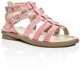 Old Soles Girls' Tall Gladiator Metallic Python-Print Sandals - Walker, Toddler