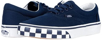 Vans Kids Era (Big Kid) ((Check Bumper) Dress Blue/True White) Boy's Shoes