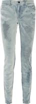 Alexander Wang Wang 002 mid-rise devor&eacute velvet skinny jeans