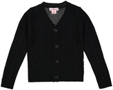 Pink Angel Black Cable-Knit V-Neck Cardigan - Infant Toddler & Girls