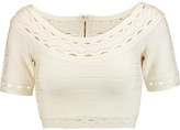Herve Leger Cropped cutout bandage top